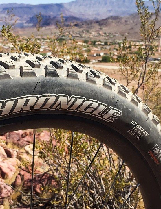 The 27.5x3in Maxxis Chronicle tires just don't offer enough cornering bite