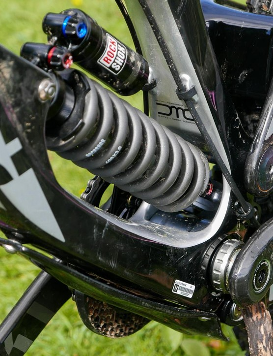 The low-slung shock and linkage helps keep the centre of gravity down