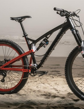 The Release 3 has 130mm of rear travel with a 150mm fork and a slack 66-degree head tube angle
