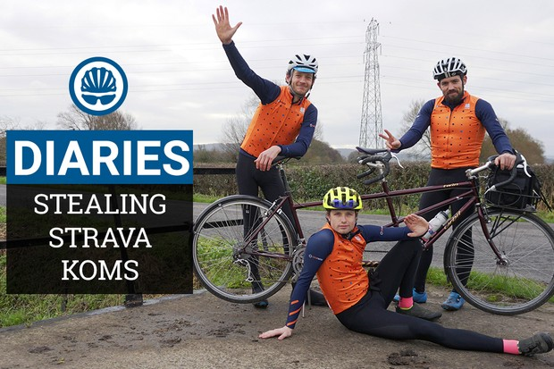 We try to steal Strava KOMs on a tandem