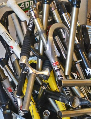 While DirtLabs can work wonders, not every fork can, or should, be saved. This graveyard of forks gets emptied a few times a year