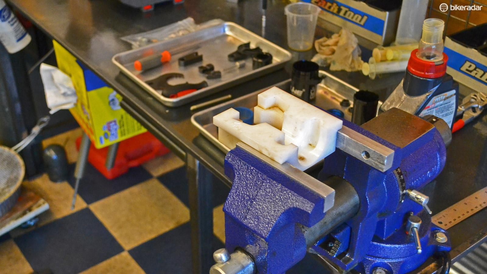 Tools of the trade: a bench vice makes easy work holding small or delicate parts