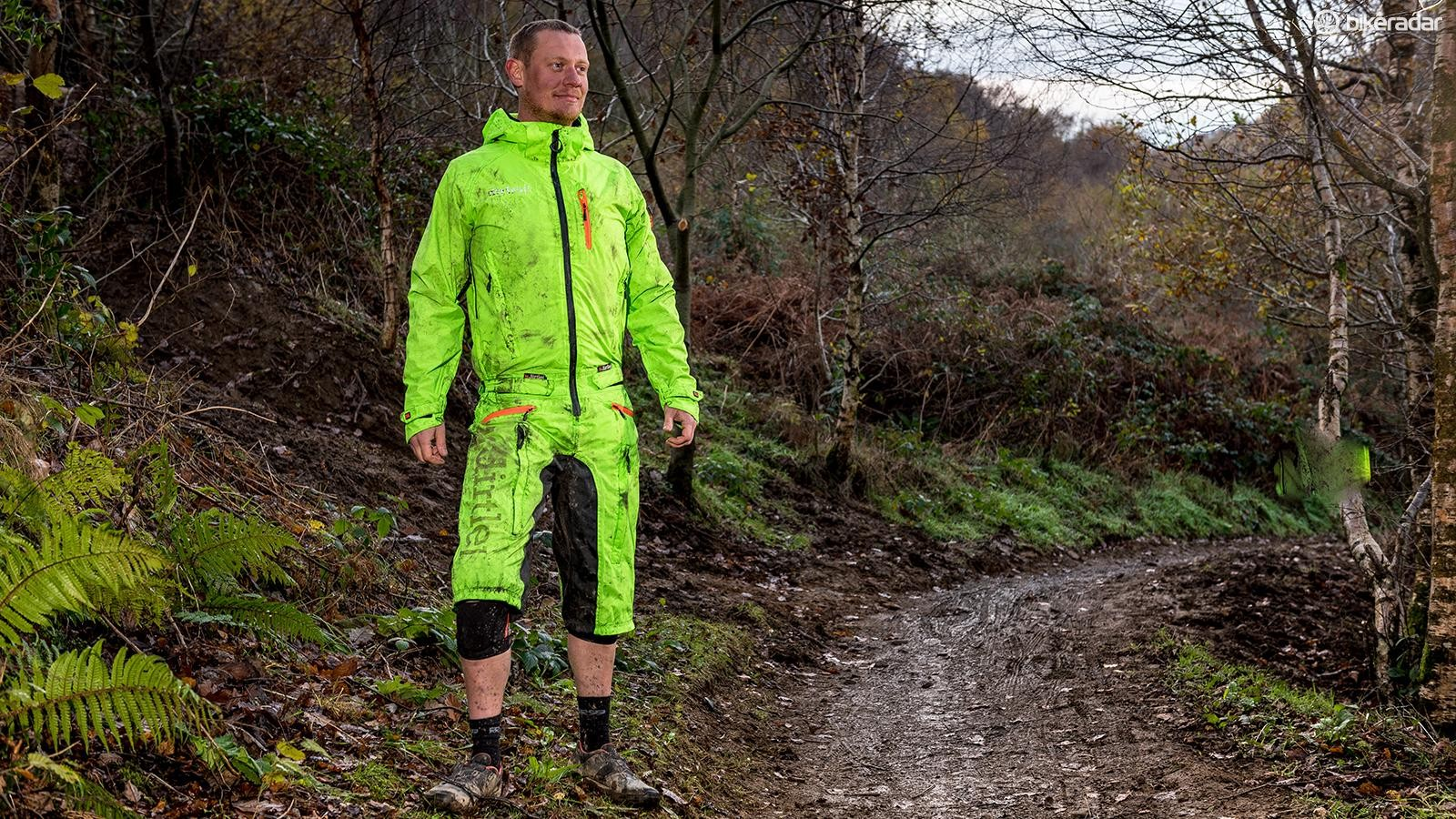 You don't NEED to wear a waterproof onesie like this, but some riders LOVE them