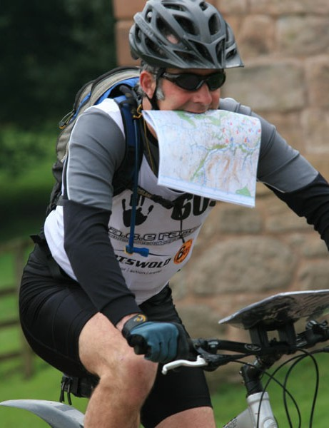 Mountain bike orienteering combines bike handling, fitness and map reading skills