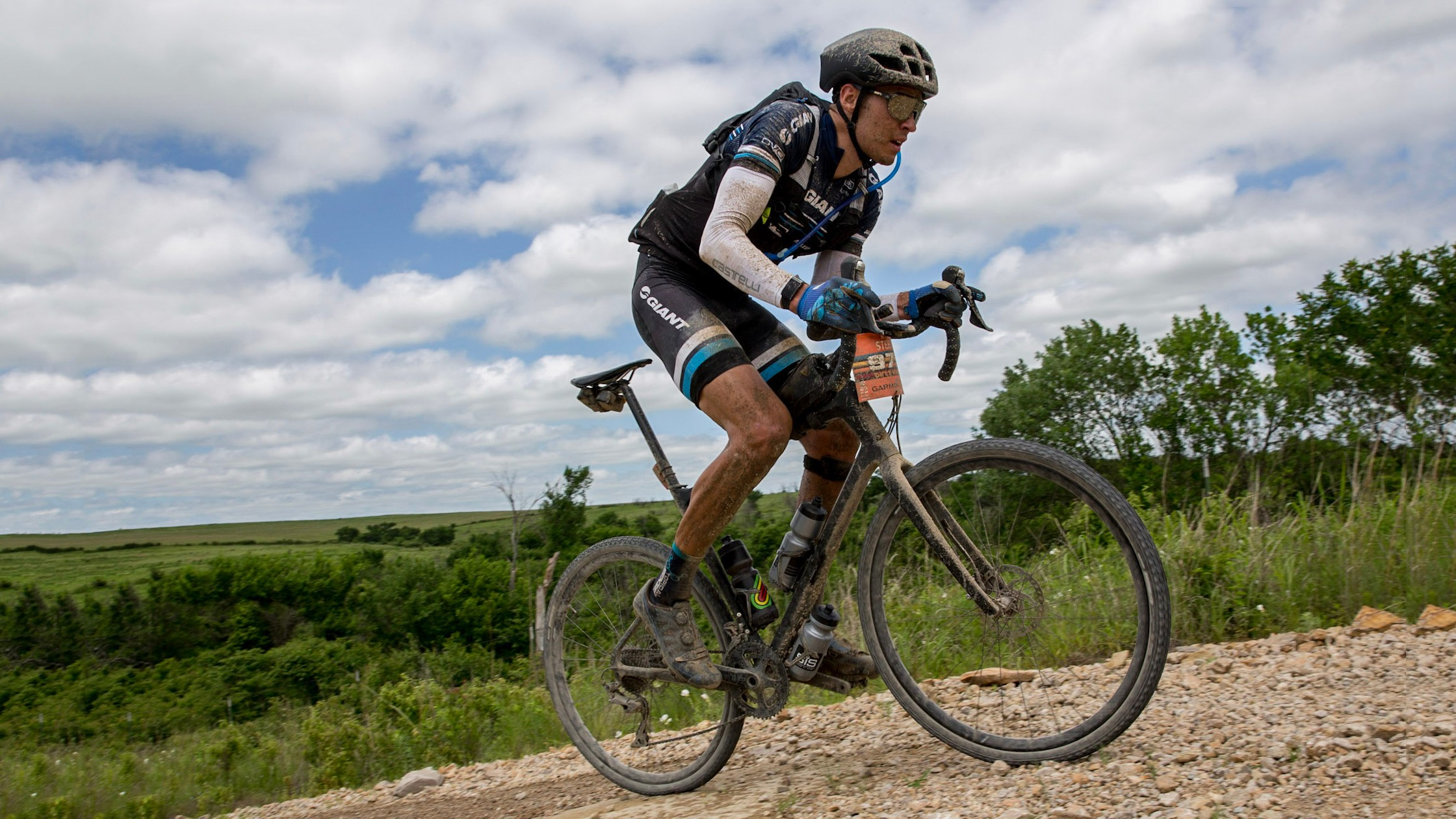 Giant rider Ryan Steers raced this then-unnamed prototype Revolt Advanced at this year's Dirty Kanza 200