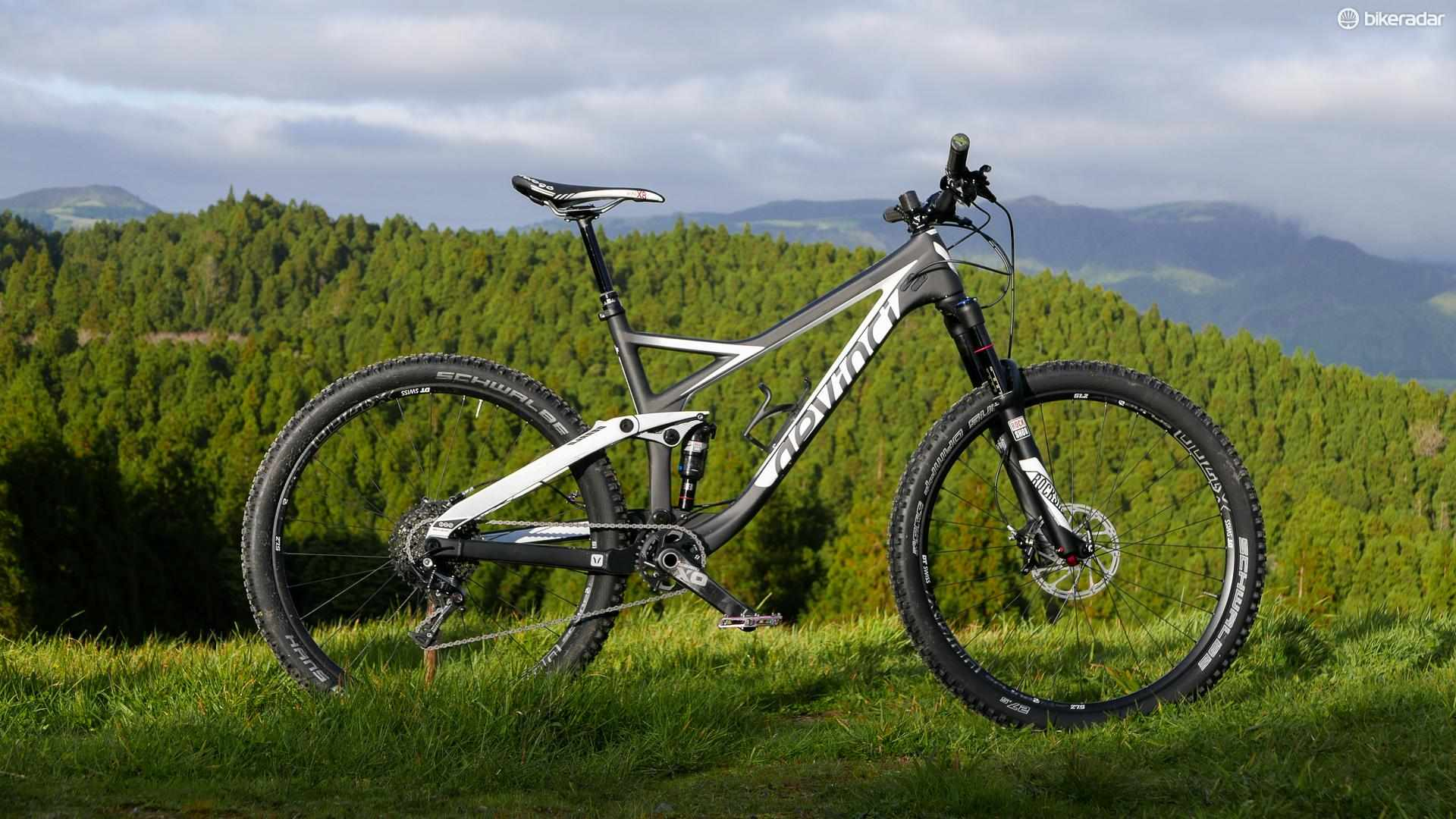 Devinci's Django Carbon pairs 120mm of rear wheel travel with 130mm up front