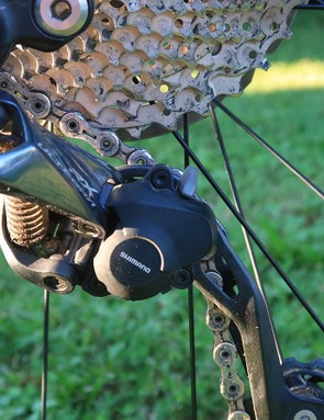 Steers' bike was equipped with the new Shimano Ultegra RX rear derailleur