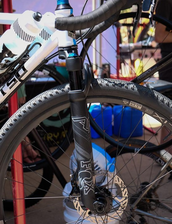 This OTSO gravel bike was equipped with the Fox AX fork