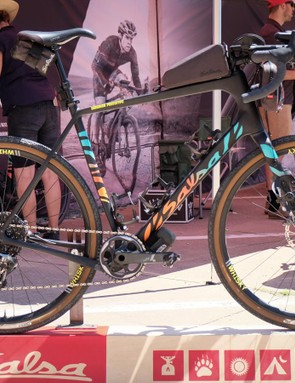 Salsa Cycles was showing off its redesigned Warbird at the DK Gravel Expo