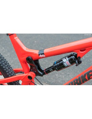 The frame comes as standard with a RockShox Monarch RT3 shock