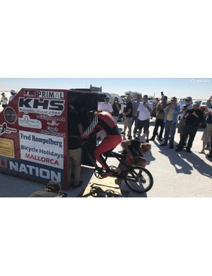 Mueller-Korenek drafted a custom-built drag vehicle for the record attempts