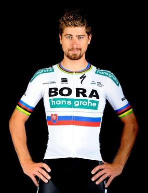 Peter Sagan and his new jersey