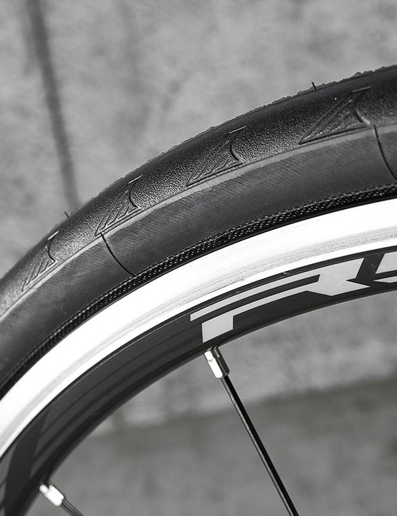 The heavy Shimano wheels take some effort to get spinning