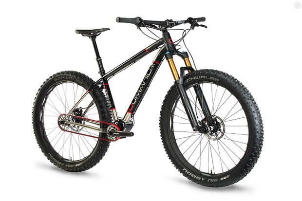 Domahidy Designs is rolling out a 27.5+ Ti hardtail with a drivetrain designed to last
