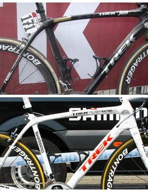 The latest Trek Domane compared to Cancellara's Domane of last year