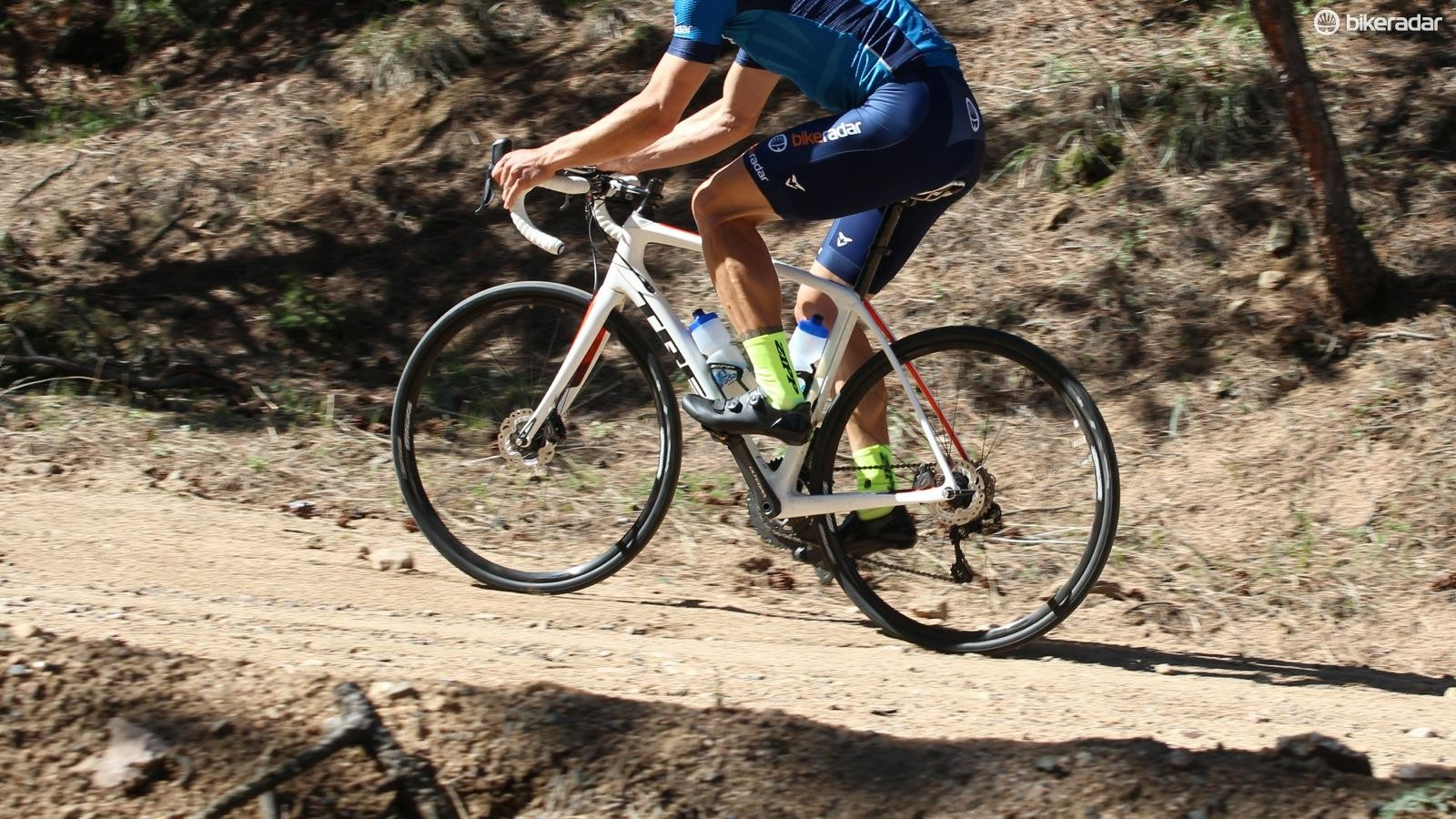 The Domane is an endurance road bike that is plenty fast on the pavement, but at home on rougher surfaces too