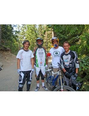 Donny, Josh, TRAVIS PASTRANA and Mr Potato Head... Sorry, Marc!