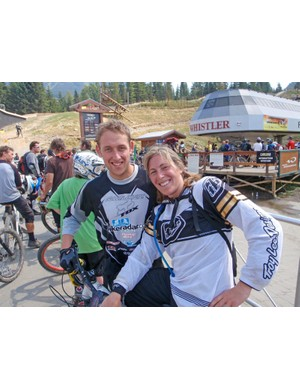 Marc with Leigh Donnovan Ex Women's World DH Champion