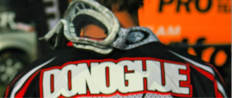Donny's name on his race kit