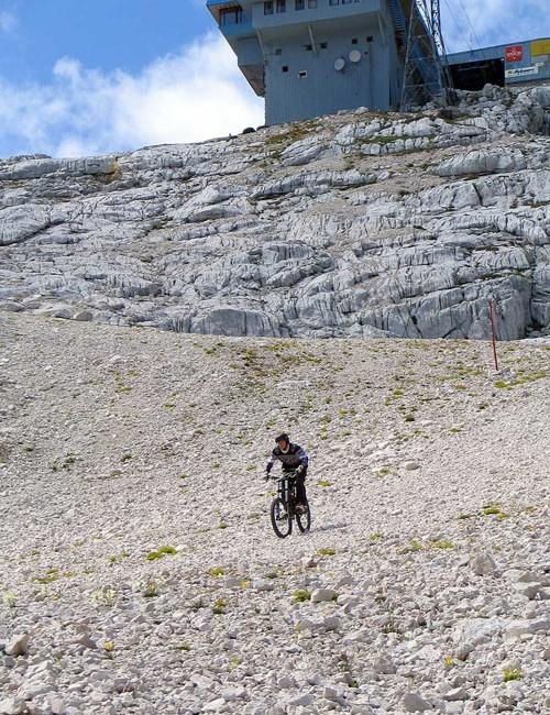 Megavalanche-style ride in Slovenia