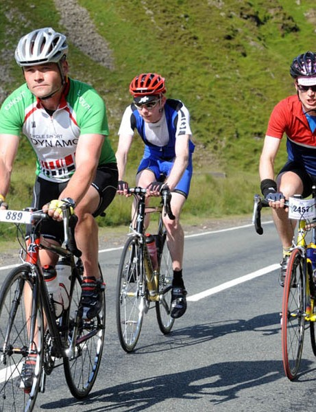 Ian Phillips, Andrew Sykes and others spin up yet another climb