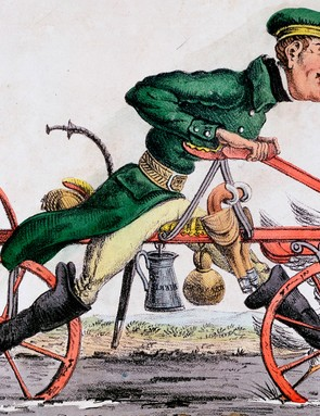 The Draisine or velocipede was invented in the early 19th century