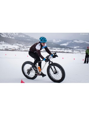 Definitely not UCI legal for cyclocross. Nobody could care less about that at Fat Bike Worlds
