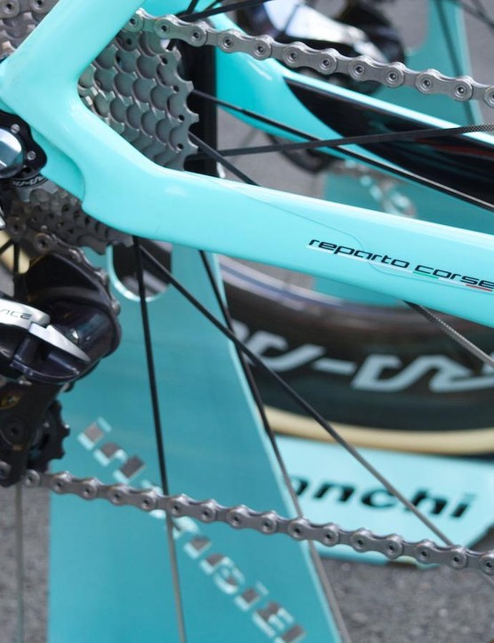 The dropped chainstay is new on the Oltre XR4