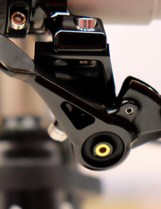 Cane Creek's dropper lever has adjustable throw and the ability to secure either end of a shift cable