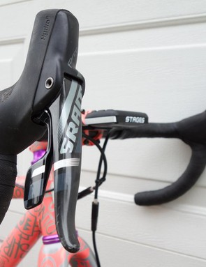 SRAM Force Hydro levers provide the shifting and braking controls