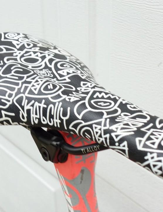 Clark runs a limited edition 'Chunz' saddle