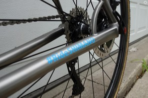 Shimano components are used on the drivetrain, wheels and braking systems on the bike