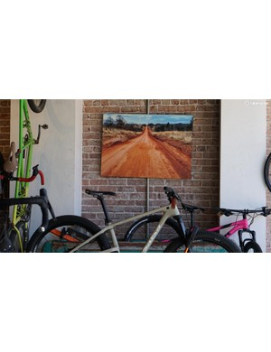 A picture of things to come inside District Bicycles
