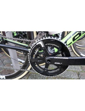 Vanmarcke's mechanics removed the Dutchman's power meter to get bike weight down to 6.81kg