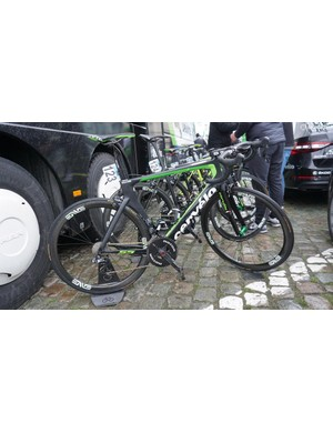 Team Dimension Data raced on a mix of Cervelo R3, R5 and and S5 framesets