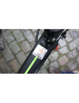 Team Dimension Data added a touch of motivation to their rider's top tubes
