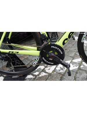 Rotor provide the South African team with cranksets and power meters