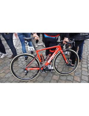 Jempy Drucker's (BMC Racing) BMC Teammachine SLR01 for the 2018 Tour of Flanders