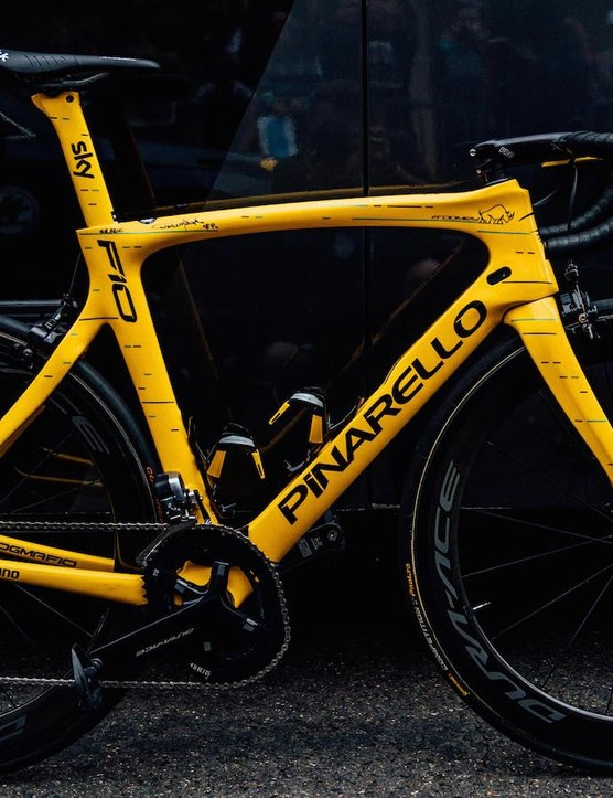 Chris Froome's yellow jersey edition Pinarello Dogma F10