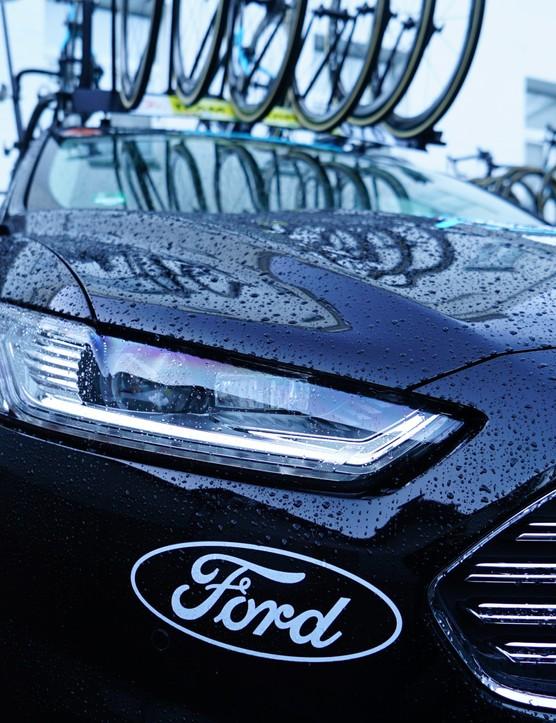 The 2016 Team Sky Ford Mondeo team car
