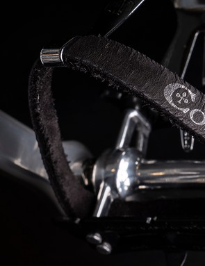 Leather Colnago toe straps
