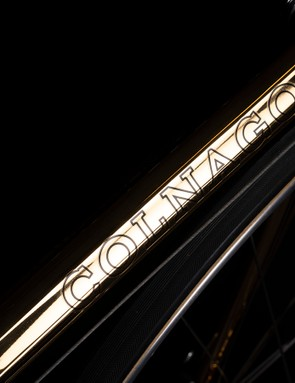 Fine Colnago lettering adorns the down tube