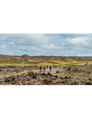 Iceland's landscape is crazy, covered in lava rocks