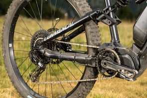 Mix and match: Shimano motor, SRAM drivetrain
