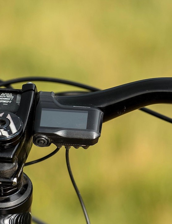 The Shimano display is small, but easy to read