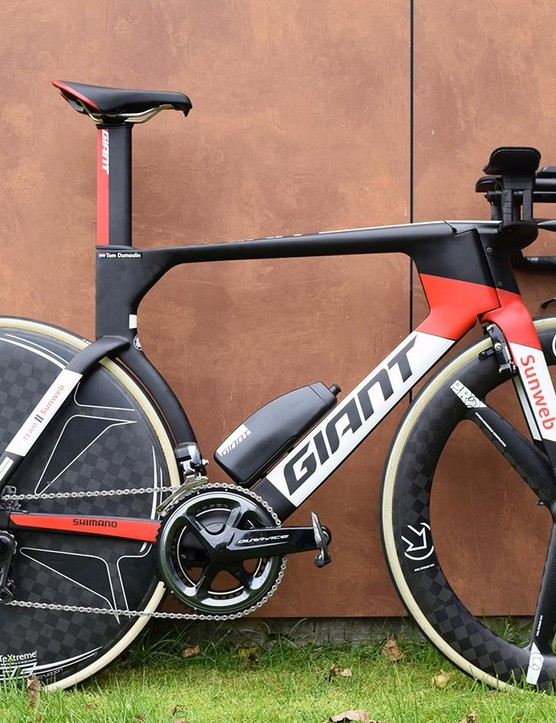 Tom Dumoulin's world championship time trial winning Giant Trinity Advanced Pro