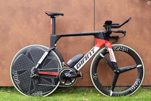 Tom Dumoulin's world championship time trial winning Giant Trinity Advanced Pro