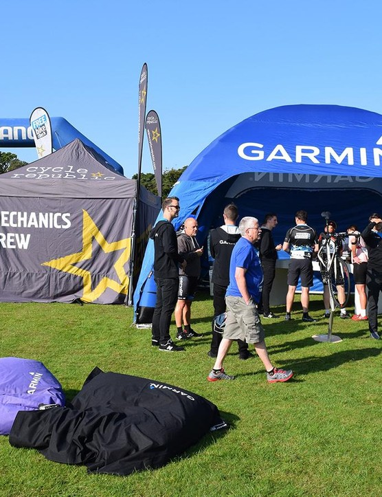 Garmin had all of its latest products on display