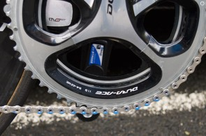54-42 chainrings and a Stages powermeter
