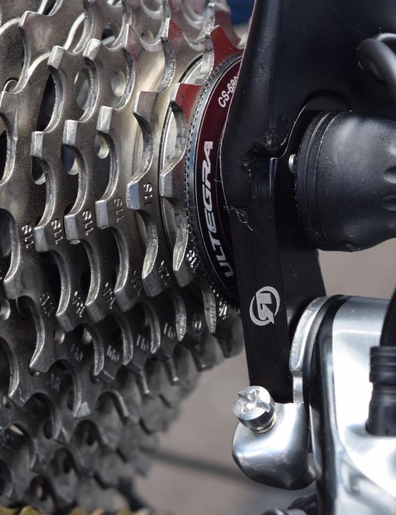 Generally Dimension Data bikes are equipped with Shimano Ultegra cassettes